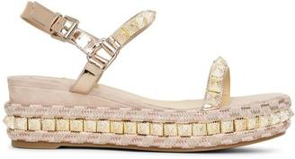 Christian Louboutin Pira Ryad 60 suede flatform sandals