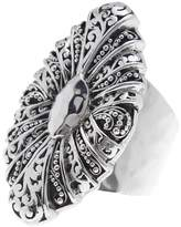 Lois Hill Sterling Silver Hand Woven Flat Wire Buckle Band Ring - Size 9