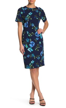 Maggy London Floral Sheath Dress (Petite)