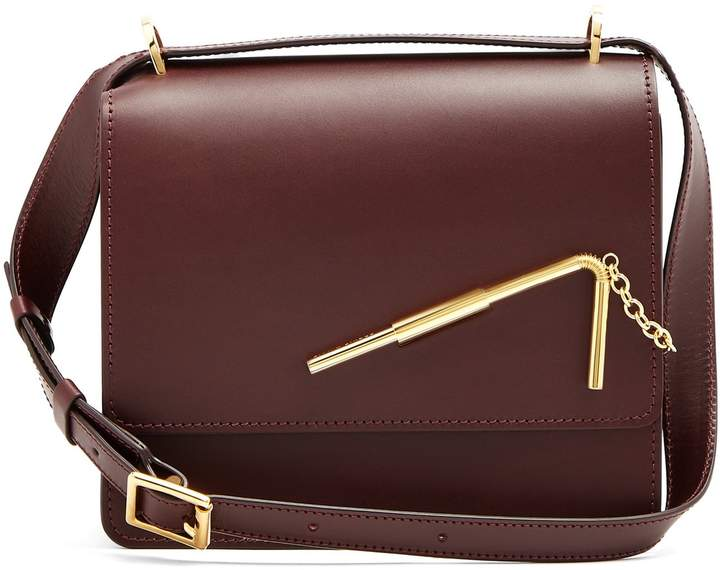 Sophie Hulme Straw medium leather cross-body bag