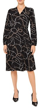 Hobbs London Stephanie Chain Print Wrap Dress