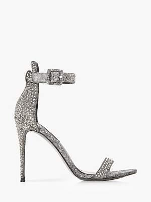 d71c9899f76 Mischa Embellished Ankle Strap Heeled Sandals, Pewter