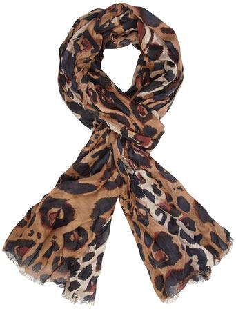 Dorothy Perkins Kardashian Kollection brown leopard print scarf