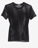 Iro Square Perforated Tee: Black