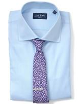 The Tie Bar Light Blue Herringbone Non-Iron Shirt