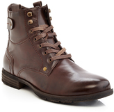 Brown Snap-Accent Lace-Up Boot - Men