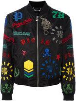 Philipp Plein Michelle bomber jacket - women - Cotton/Polyamide/Spandex/Elastane - S