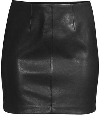 Alice + Olivia Hannon Leather Mini Skirt