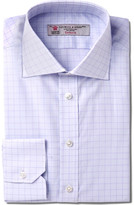 Turnbull & Asser Slim-Fit Windowpane-Checked Cotton Shirt