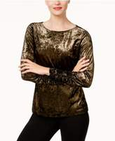 Vince Camuto Ruched Velvet Top