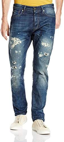 uk availability official supplier hot sale online Jack and Jones Straight Jeans For Men - ShopStyle UK