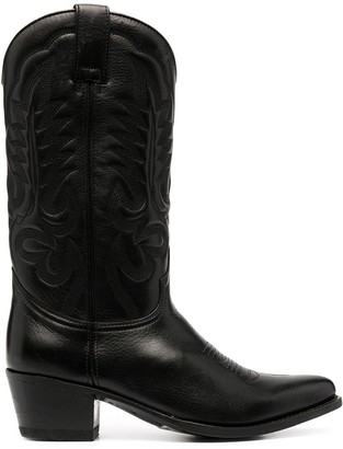 Paul Warmer Leather Cowboy Boots