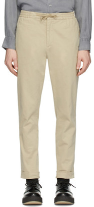Officine Generale Beige Garment-Dyed Phil Trousers