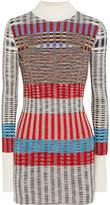 Missoni Ribbed Wool-blend Turtleneck Sweater - Gray