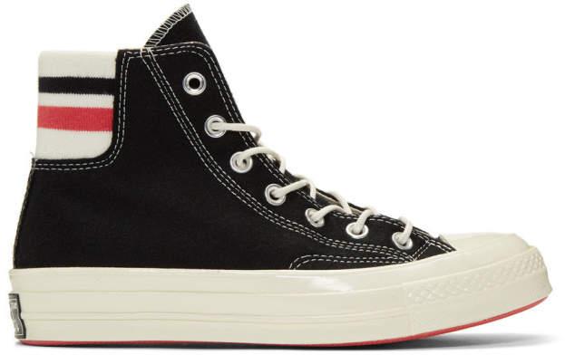 Converse Black Wool Knit Back Chuck 70 High Sneakers