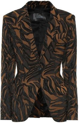 Thierry Mugler Jacquard stretch-twill blazer