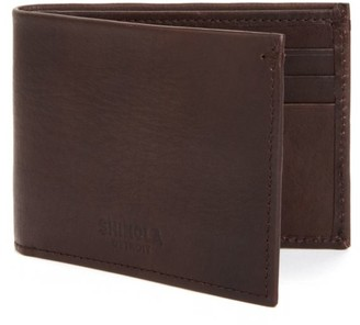 Shinola Essex Slim Leather Billfold Wallet