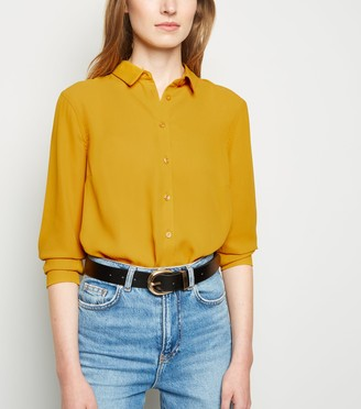 New Look Chiffon Long Sleeve Shirt