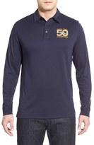 Cutter & Buck Men's Big & Tall 'Denver Broncos - Super Bowl 50' Long Sleeve Pima Cotton Polo