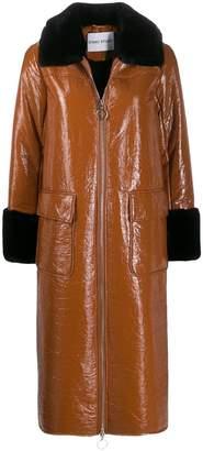 Stand Studio contrast zipped coat