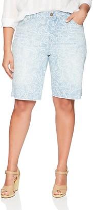 Bandolino Women's Plus Size Mandie 5 Pocket Denim Bermuda Short