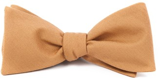 The Tie Bar Solid Wool Mustard Bow Tie