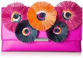 Loeffler Randall Tab Clutch (Nappa/Embroidered Flowers)