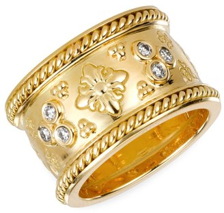 Temple St. Clair 18K Yellow Gold & Diamond Nomad Ring