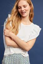 Ella Moss Sleeveless Flutter-Sleeve Top
