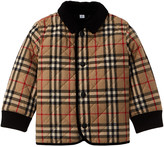 Burberry Corduroy Trim Vintage Check Diamond Quilted Jacket