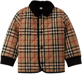 Burberry Corduroy Trim Vintage Check Diamond Quilted Jacket