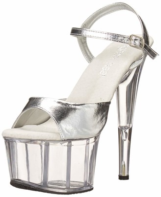 The Highest Heel womens Scarlett 21 Sandal With Ankle Strap Platform