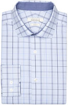 Perry Ellis Slim Fit Sky Plaid Dress Shirt
