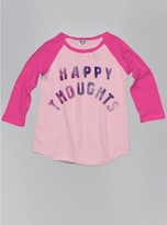 Junk Food Clothing Kids Girls Happy Thoughts Raglan-patti/flashdance-l