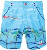 Andy & Evan Beach Doodle Swim Short (Toddler & Little Boys)