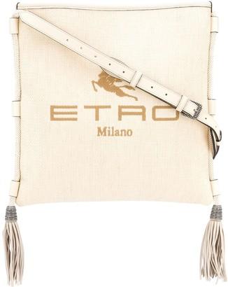 Etro Logo Printed Square Shoulder Bag