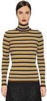 I'M Isola Marras Striped Wool Knit Turtleneck Sweater