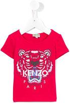 Kenzo tiger logo T-shirt - kids - Cotton/Spandex/Elastane - 24 mth