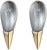 Alexis Bittar Liquid Metal Capped Spike Post Clear Lucite Earrings