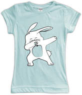Urban Smalls Aqua Dabbing Bunny Fitted Tee - Toddler & Girls