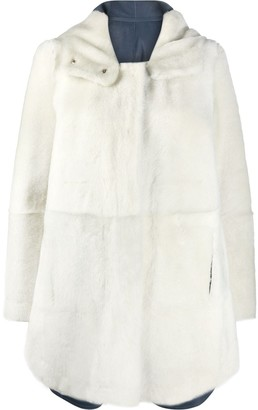 Yves Salomon Hooded Reversible Buttoned Coat