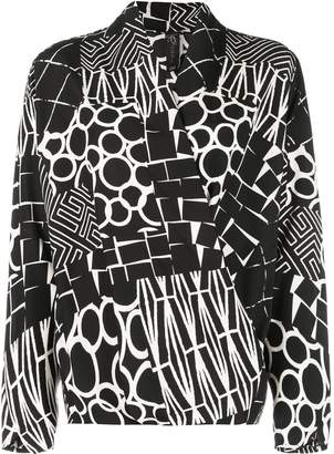 Zero Maria Cornejo all-over print blouse