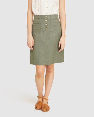 Oxford Women's Denim skirts - Tito Button Front Skirt - Size One Size, 6 at The Iconic