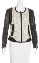 Barbara Bui Wool & Leather-Blend Structured Jacket