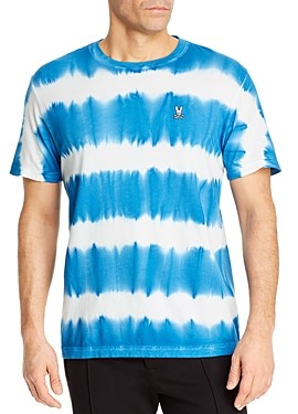 Psycho Bunny Tenby Cotton Tie-Dyed Stripe Tee