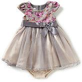 Bonnie Jean Baby Girls Newborn-24 Months Floral Lace & Tulle A-Line Dress