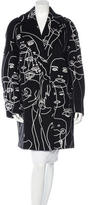 Stella McCartney Embroidered Double-Breasted Coat