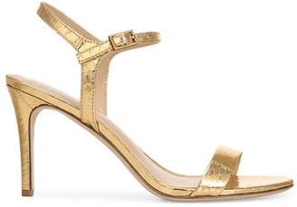Via Spiga Madeleine Snakeskin-Embossed Metallic Leather Sandals