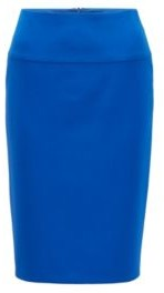 HUGO BOSS Regular-rise pencil skirt in double-faced stretch fabric