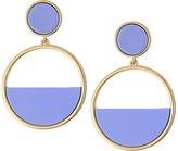 Kate Spade Set The Tone Drop Hoop Earrings